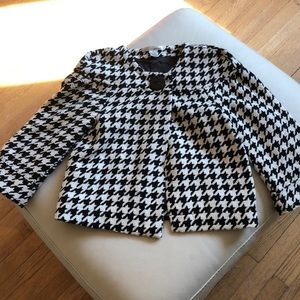 WD.NY black and white houndstooth jacket